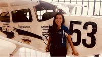 Pic of Brenda with Air Race Classic Plane.JPG