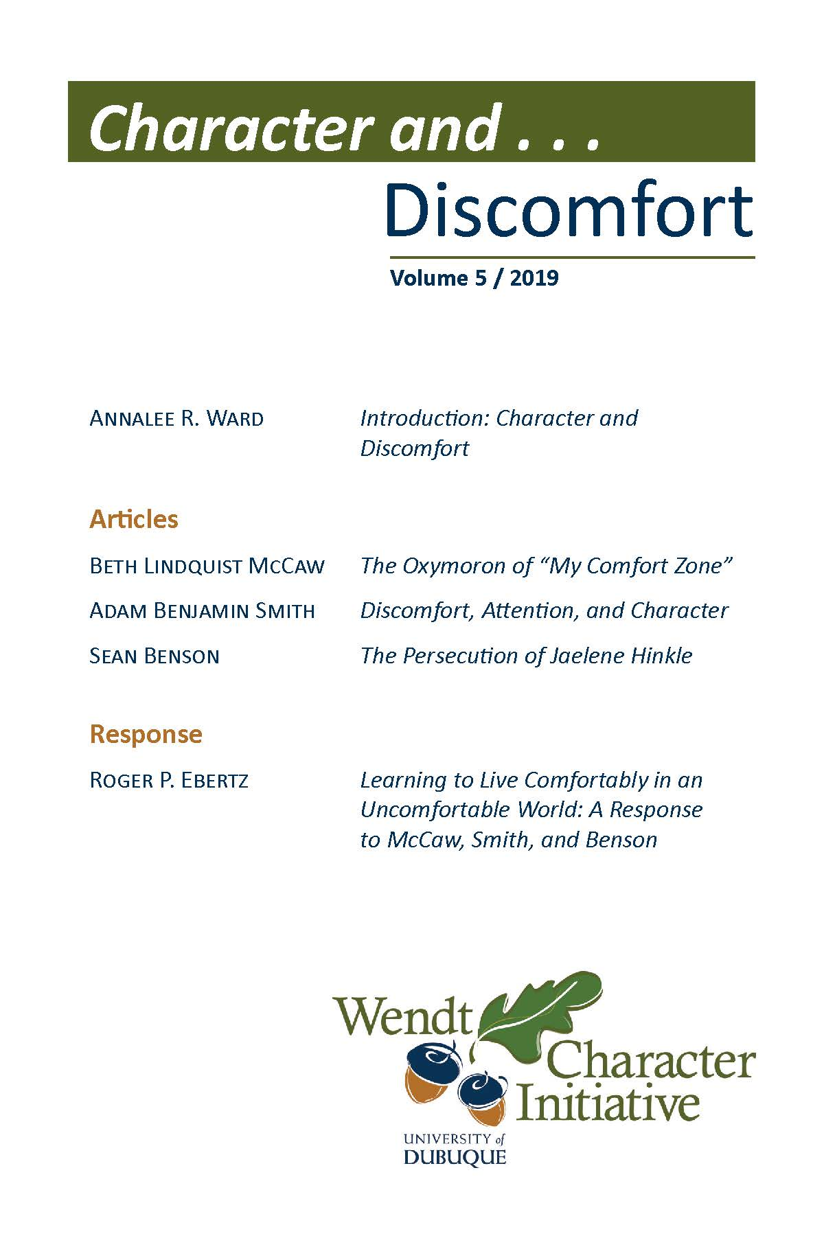 View Character and... Discomfort (Vol. 5, 2019)