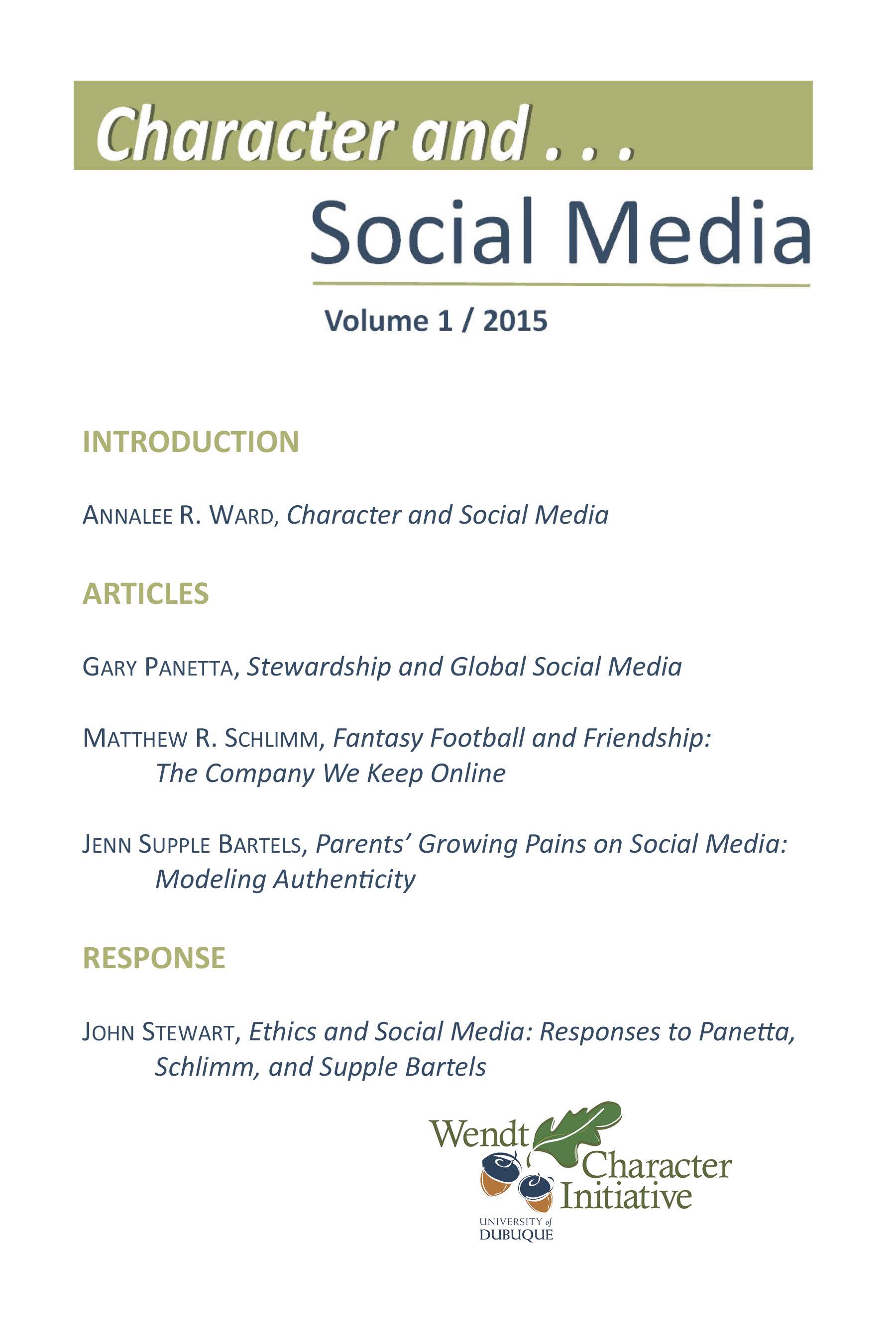 View Character and... Social Media (Vol. 1, 2015)